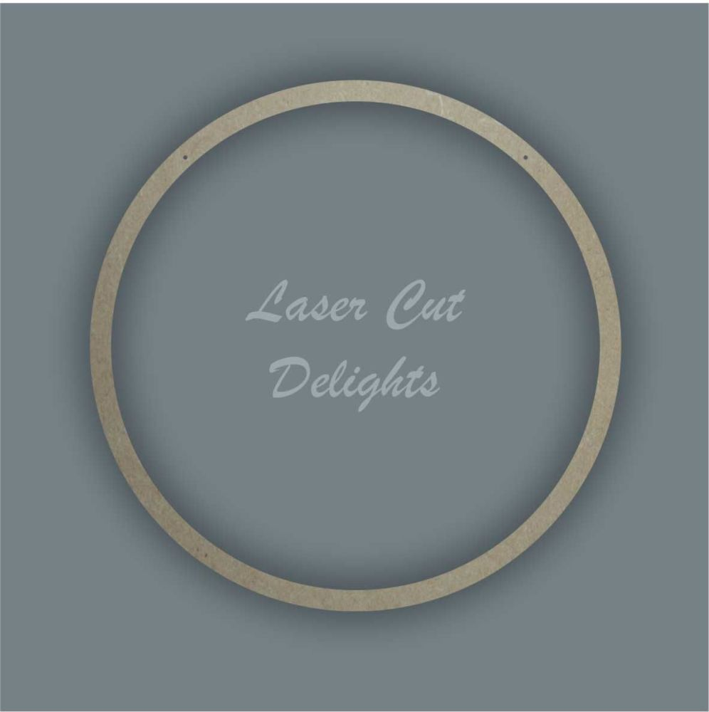 Large Hoop PLAIN / Laser Cut Delights