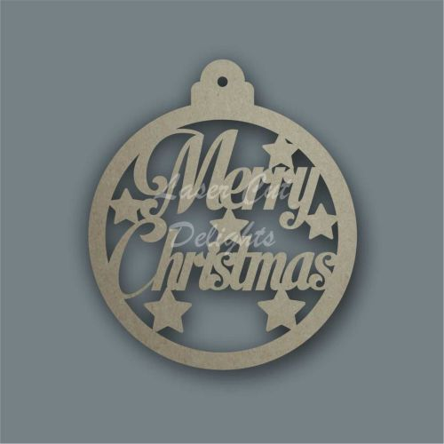 Bauble Large Merry Christmas / Laser Cut Delights