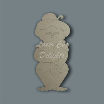 Naughty Naked Mrs Claus / Laser Cut Delights