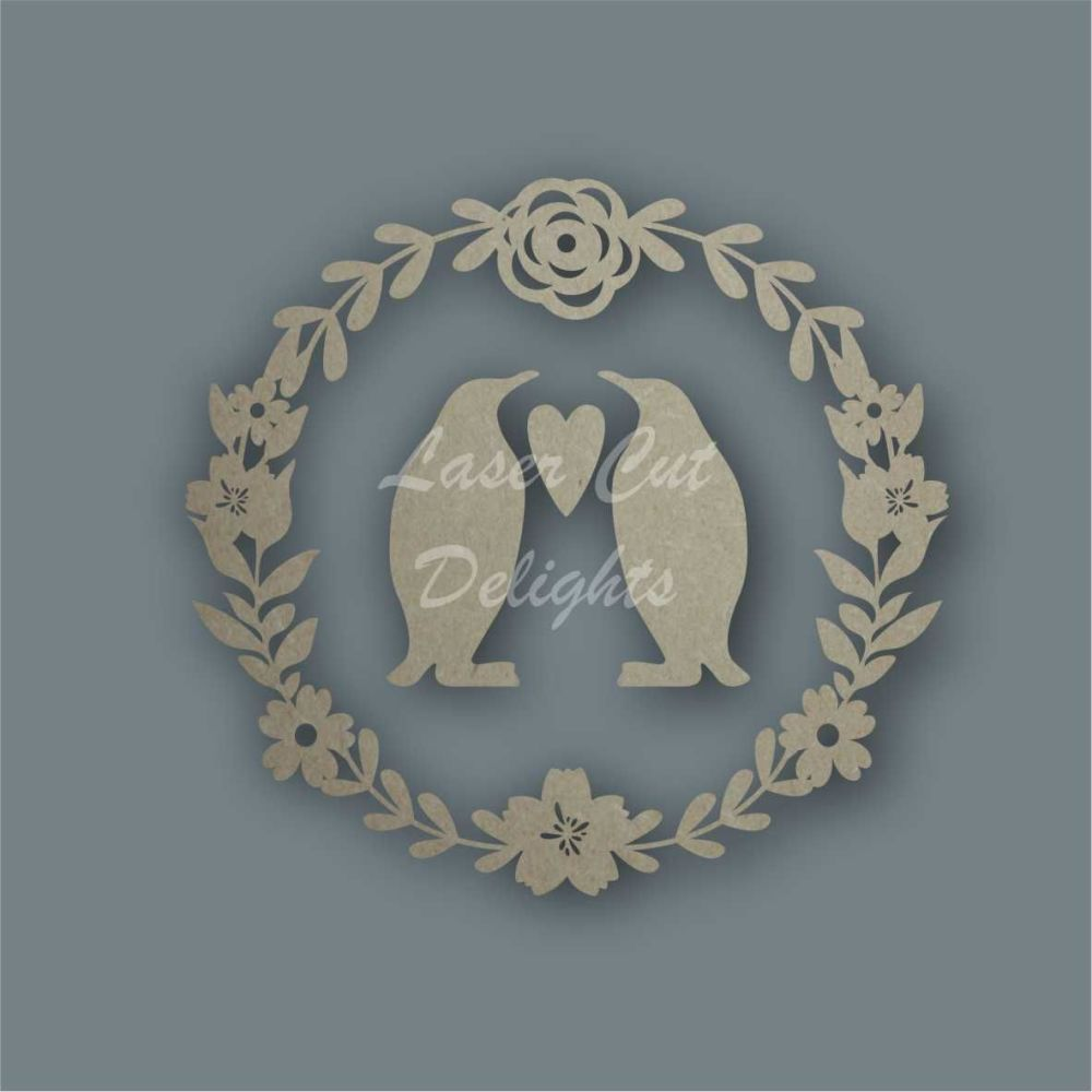 Wreath Flower Penguins / Laser Cut Delights