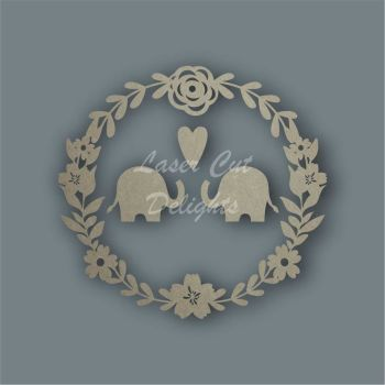 Wreath Flower Elephants / Laser Cut Delights