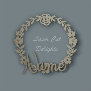 Wreath Flower Basic NAME / Laser Cut Delights