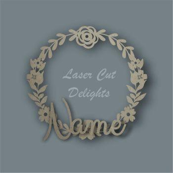 Flower Wreath Basic NAME / Laser Cut Delights