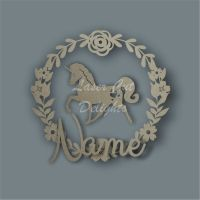 Flower Wreath Unicorn NAME / Laser Cut Delights