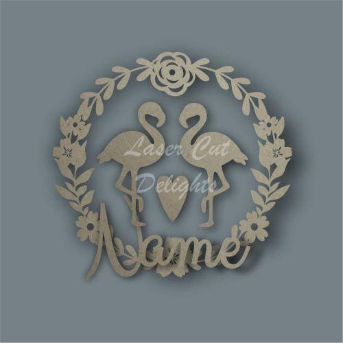 Wreath Flower Flamingo NAME