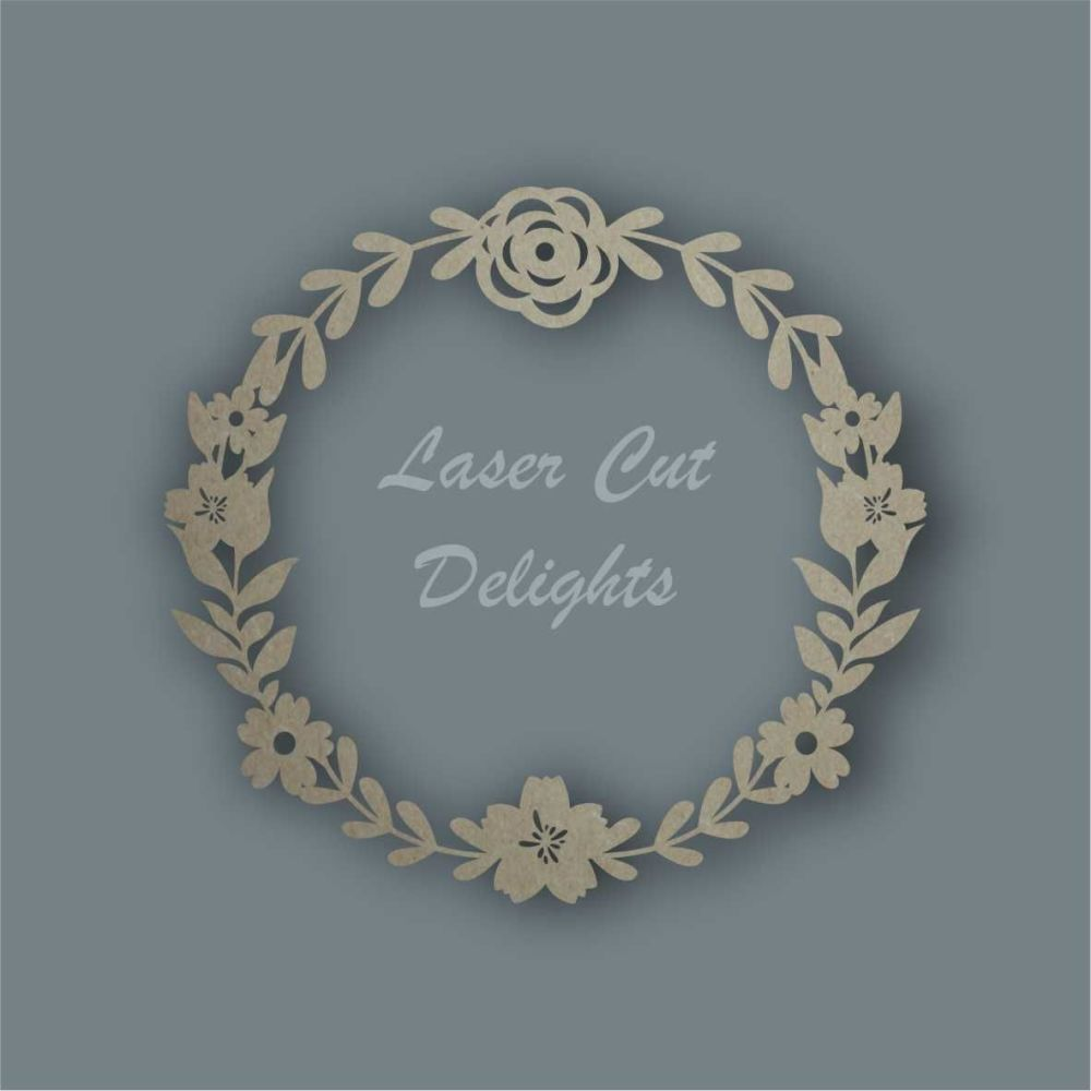 Flower Wreath Only / Laser Cut Delights