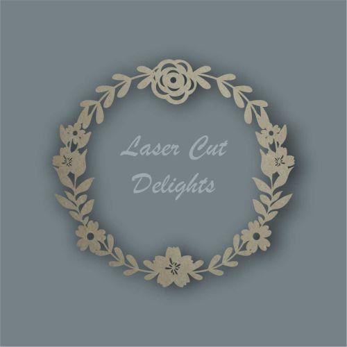 Flower Wreath Only / Laser Cut Delights