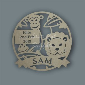 Dream Catcher - Themed Jungle Birth Details / Laser Cut Delights