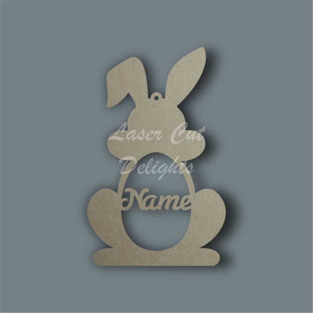 personalised mdf bunnies any name laser cut craft