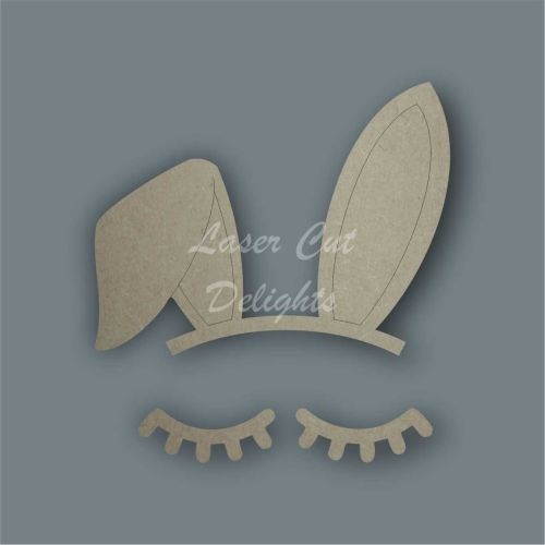 Bunny Rabbit Ear & Eyelashes Set / Laser Cut Delights