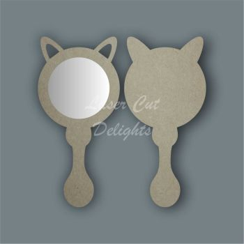 Handheld Mirror FOX / Laser Cut Delights