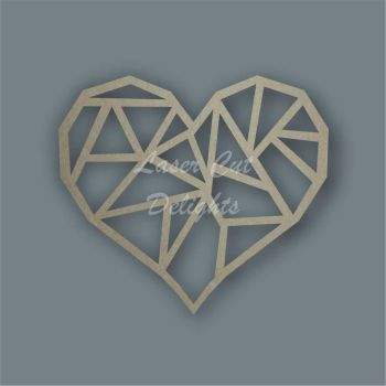 Geometric Heart  / Laser Cut Delights