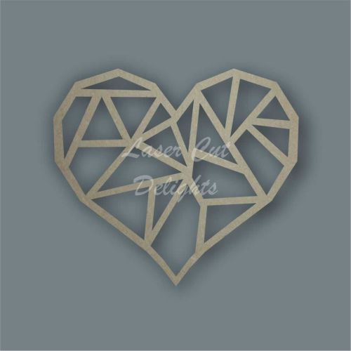 Geometric Heart Wall Decoration Wood MDF