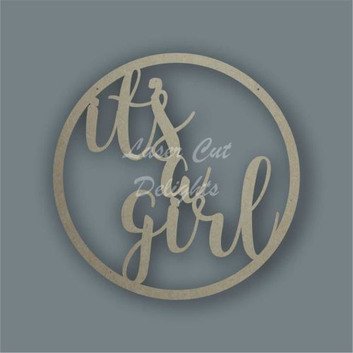 Large Hoop 'it's a girl' / Laser Cut Delights