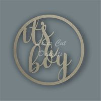 Large Hoop 'it's a boy' / Laser Cut Delights