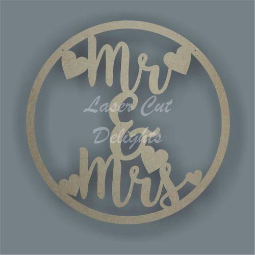Large Hoop Mr & Mrs / Laser Cut Delights