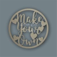 Large Hoop with MAKE YOUR OWN / Laser Cut Delights