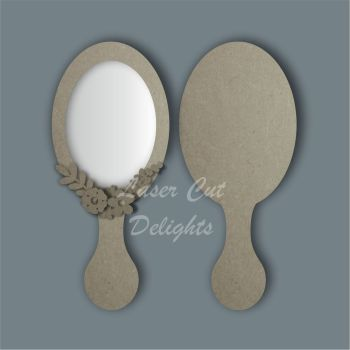 Handheld Mirror OVAL / Laser Cut Delights