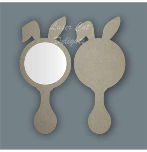 Handheld Mirror RABBIT / Laser Cut Delights