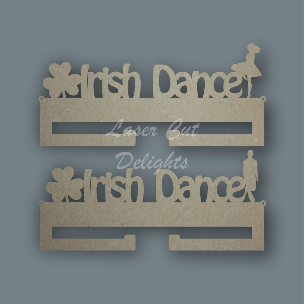 Medal IRISH DANCE & SHAMROCK Hanger / Laser Cut Delights