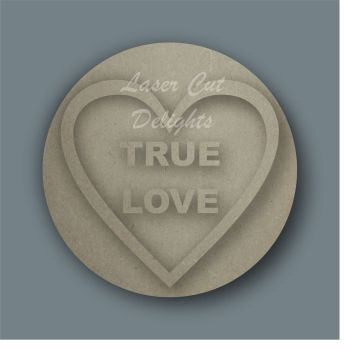 3D Love Hearts (SEPARATE WORDING) / Laser Cut Delights