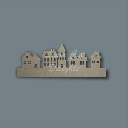 3D Village Town Street (straight line) / Laser Cut Delights