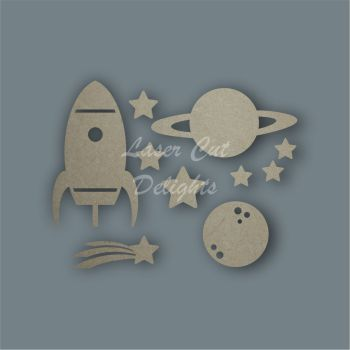 Space Shape Pack / Laser Cut Delights