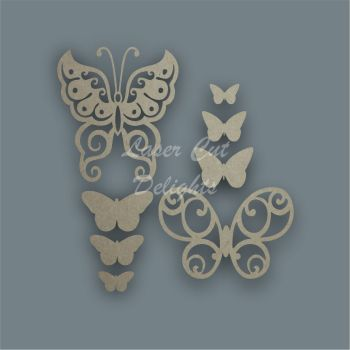 Butterfly Shape Pack / Laser Cut Delights