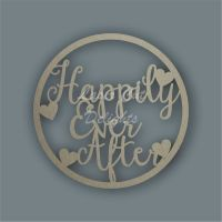 Large Hoop 'Happily Ever After' / Laser Cut Delights