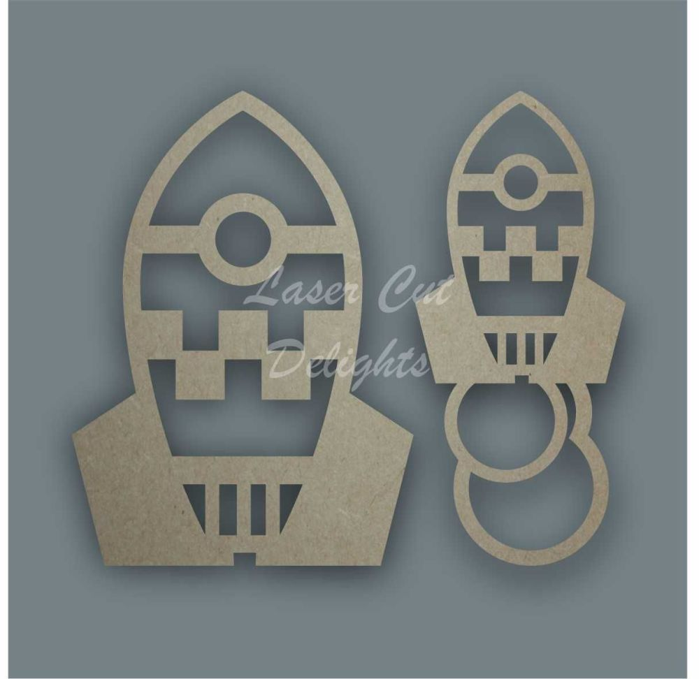 Rocket Stencil / Laser Cut Delights