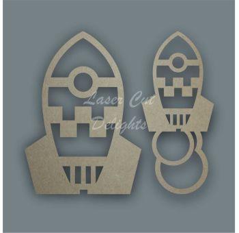Rocket Stencil / Laser Cut Delights