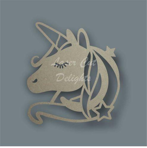 Unicorn Head Stencil / Laser Cut Delights