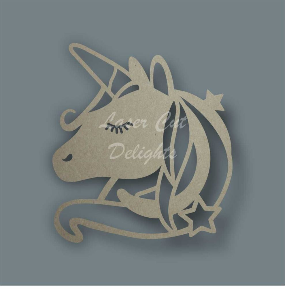 Unicorn Head Stencil / Laser Cut Delights