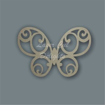 Butterfly Rounded Stencil / Laser Cut Delights