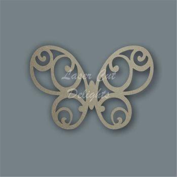Butterfly Swirls Stencil / Laser Cut Delights