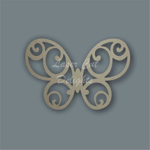 Butterfly Swirls Stencil / Laser Cut Delights