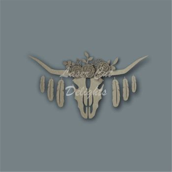Floral Cow Skull / Laser Cut Delights