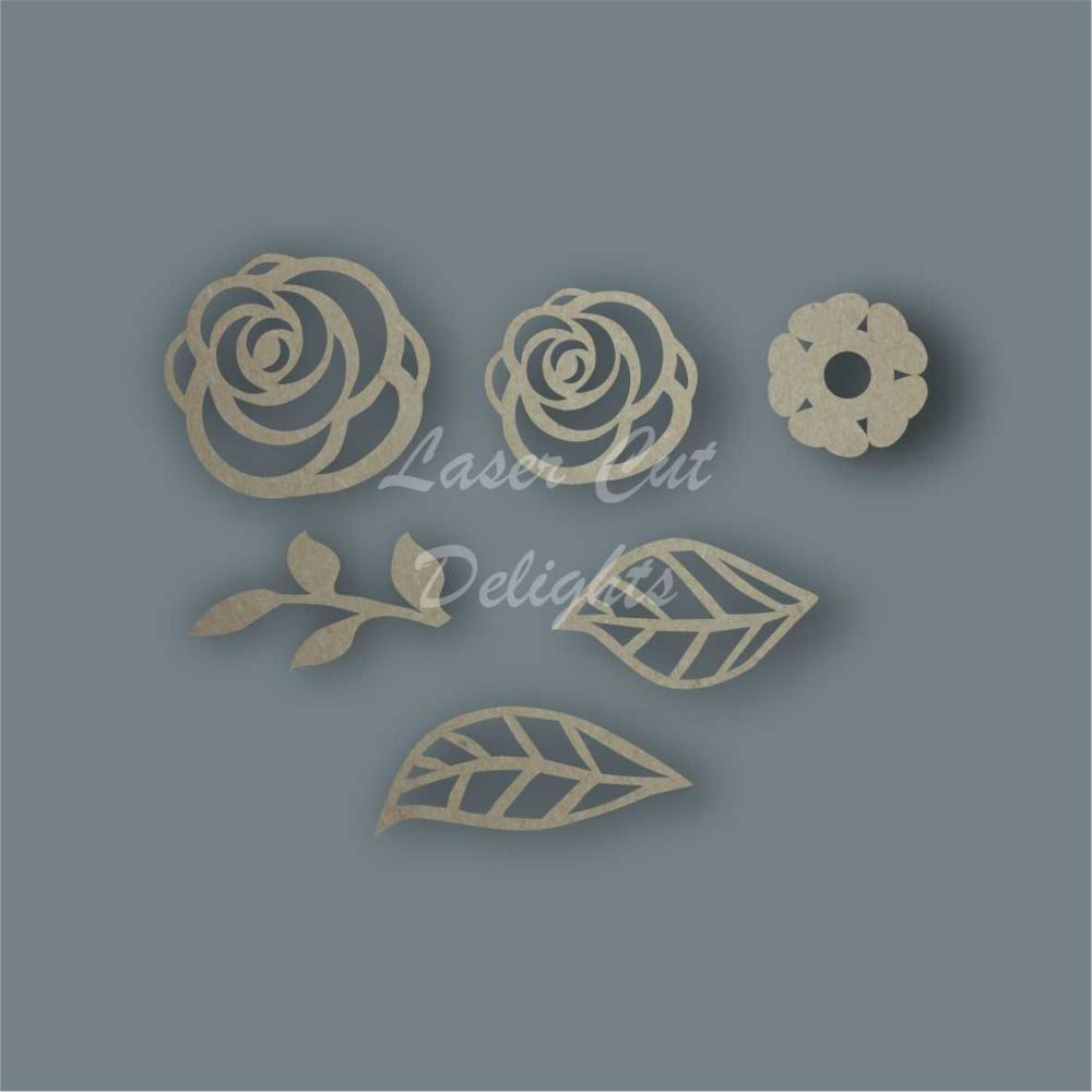 Flowers Pack Design 2 / Laser Cut Delights