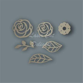 Flowers Pack Design 2 / Laser Cut Delights