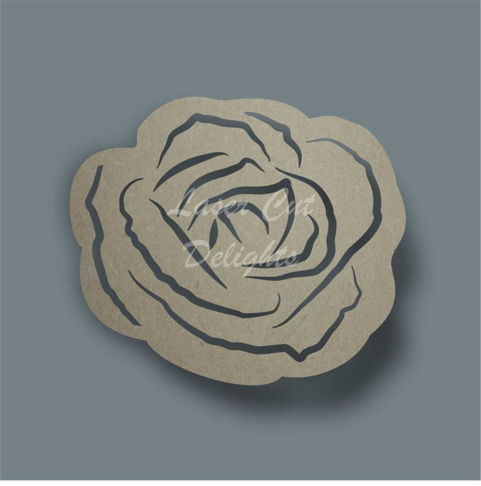 Rose  1 Stencil / Laser Cut Delights