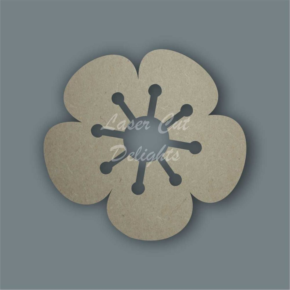 Flower  2 Stencil / Laser Cut Delights