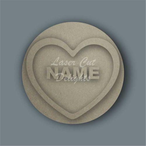 love heart wall design plaque