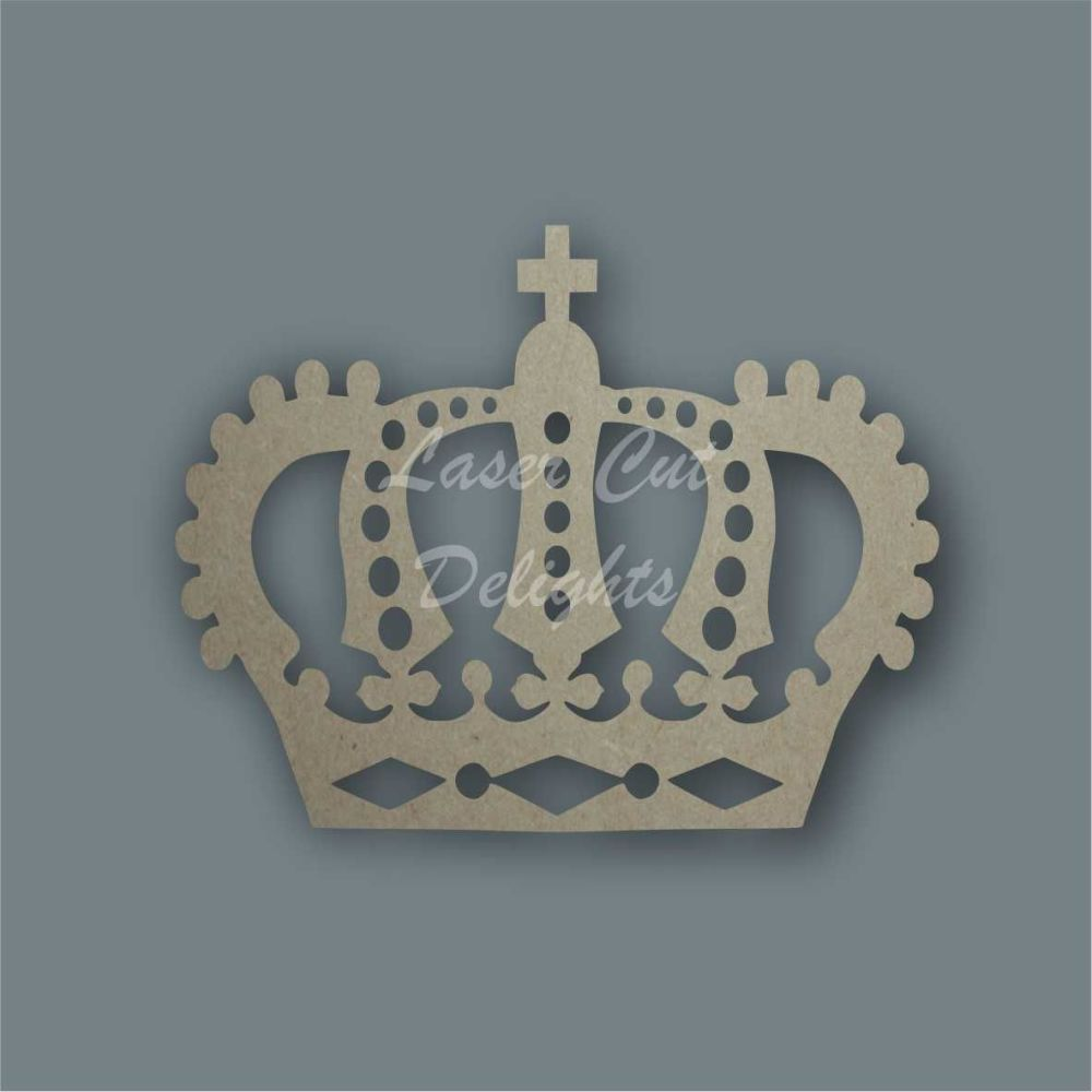 Royal Crown Stencil / Laser Cut Delights
