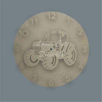 CLOCK - Tractor / Laser Cut Delights