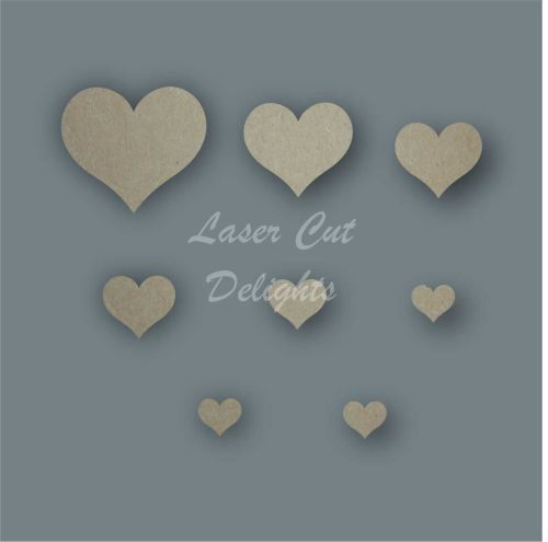 Heart Country Shape Pack / Laser Cut Delights