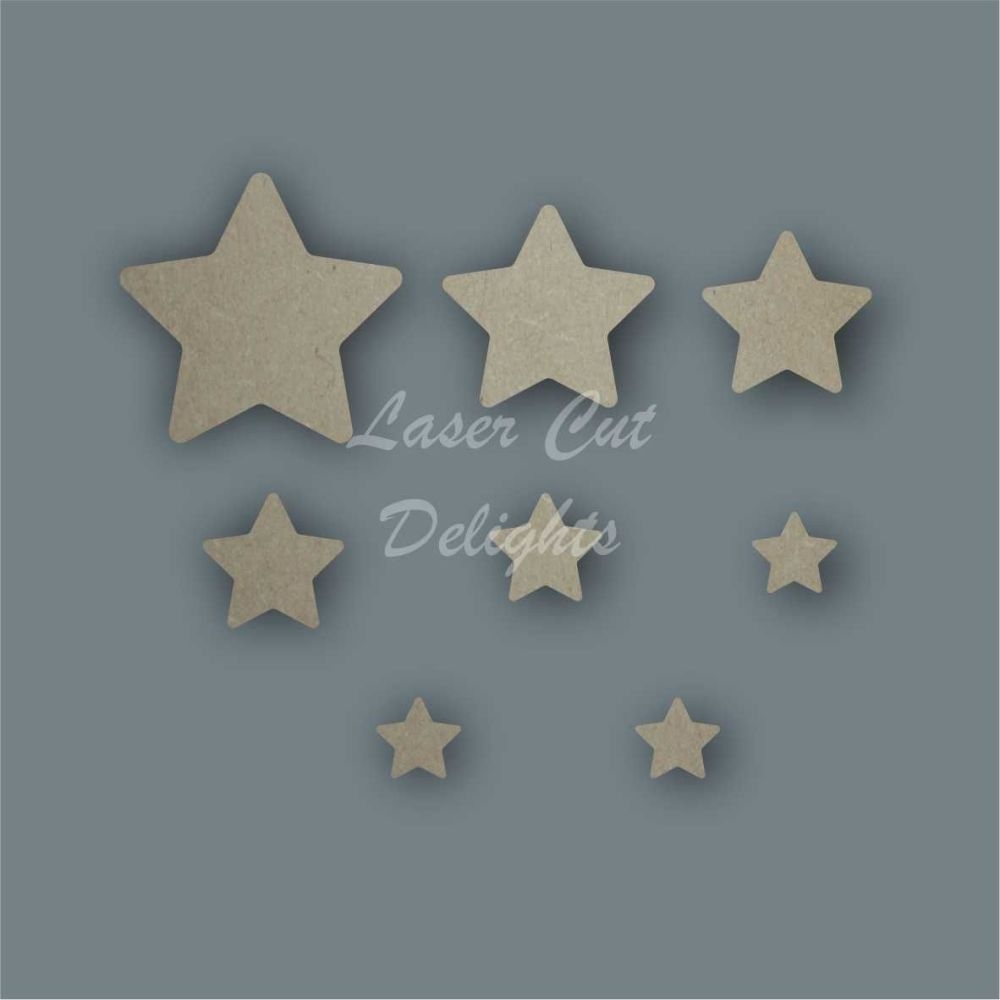 Star Curved Shape Pack / Laser Cut Delights