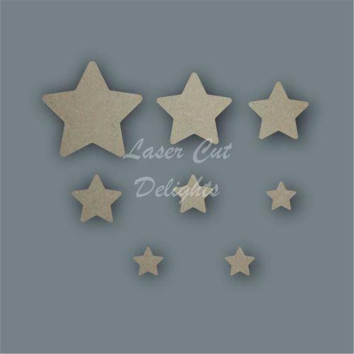Star Curved Shape Pack / Laser Cut Delights
