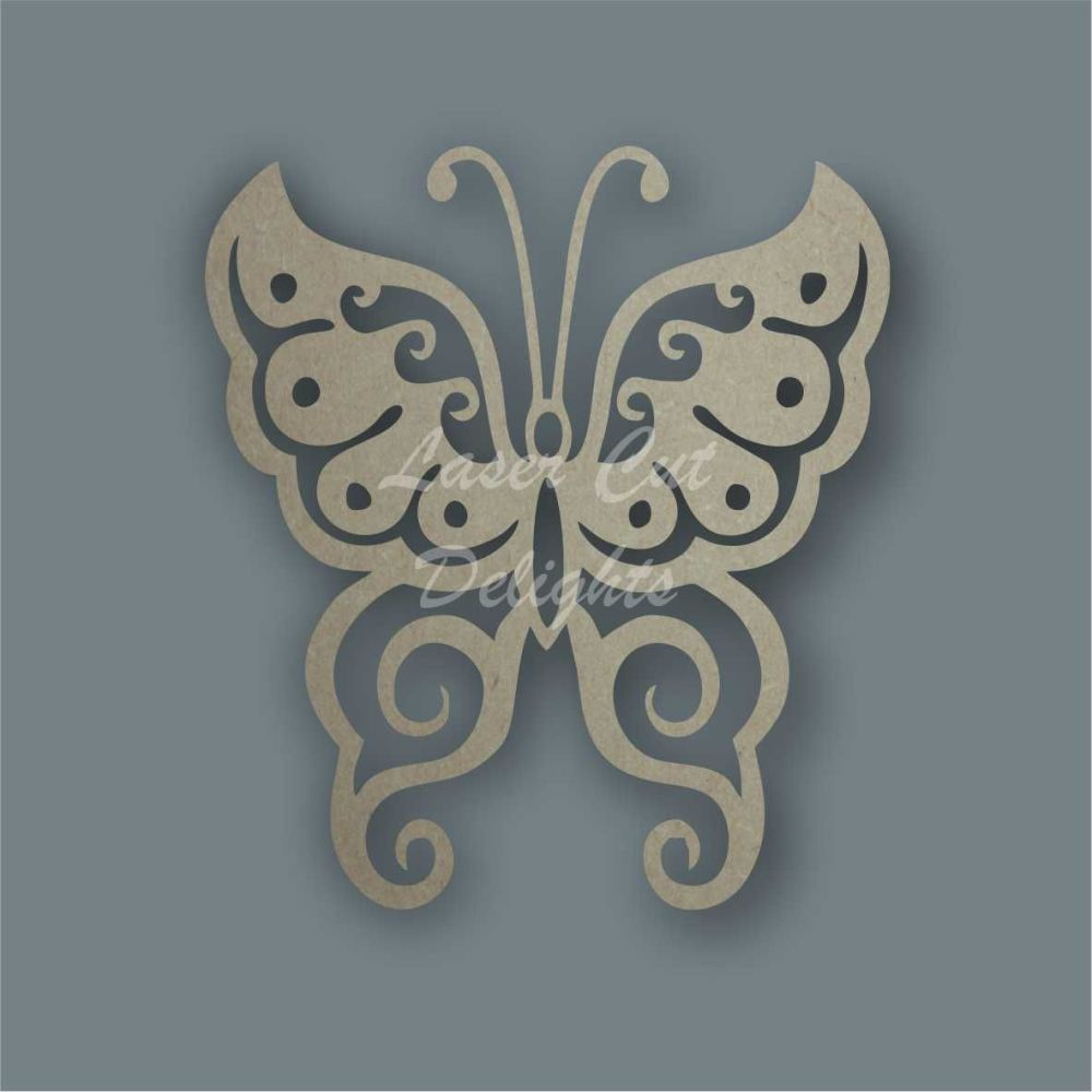 Butterfly Fancy Stencil / Laser Cut Delights