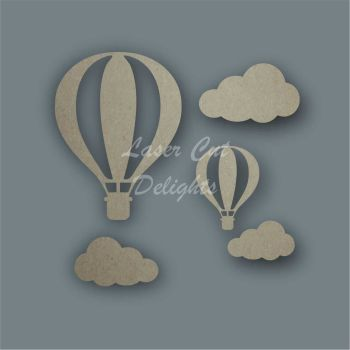 Hot Air Balloon Basic Shape Pack / Laser Cut Delights