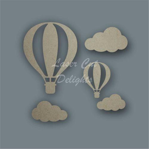 Hot Air Balloon Basic Shape Pack / Laser Cut Delights